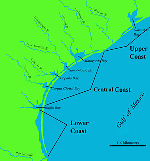 Map Of Texas Coastline.The Prehistory Of The Texas Coastal Zone 10 000 Years Of Changing