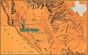 Map Of Texas Mountain Ranges.Hueco Tanks