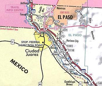 Maps El Paso El Paso Missions