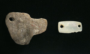 photo of ornamental pendants found at the Squawteat Peak site